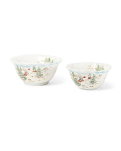 Set Of 2 Snowville Serving Bowls