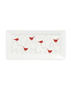 Winter Birds Rectangular Tray