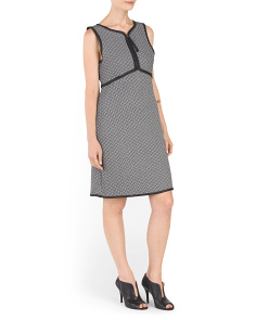 Houndstooth Quilted Knit Dress