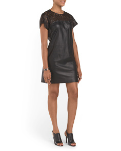 Leather Kanila Laser Cut Dress
