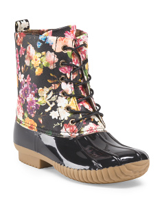 Floral Duck Boot
