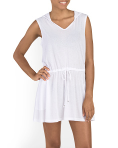 Sleeveless Hooded Cover-Up
