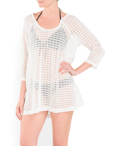 Window Pane Knit Cover-Up