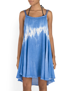 Tie Dye Braided Strap Cover-Up