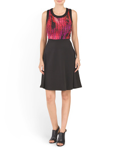 Perforated Bodice Dress