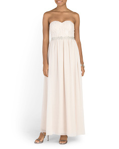 Juniors Strapless Party Dress