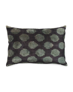23x15 Silk Velvet Dot Pillow