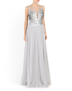 Long Beaded Occasion Dress