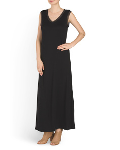 Maxi Dress With Mesh Sides