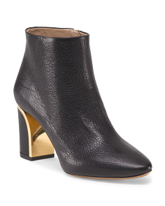 Made In Italy Leather Beckie Ankle Boot