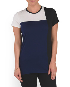 Short Sleeve Tri Colorblock Tee