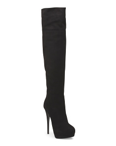 Made In Italy Suede Over The Knee Boot