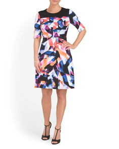 Rainbow Fragment Scuba Dress