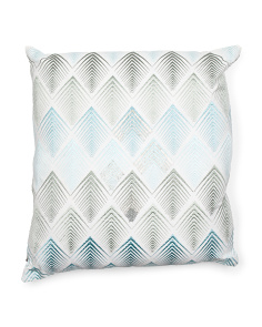 Made In India 22x22 Linen Chevron Pillow