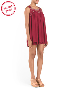 Juniors Embroidered Dress
