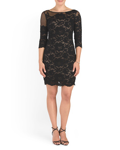 Short Lace Cocktail Dress