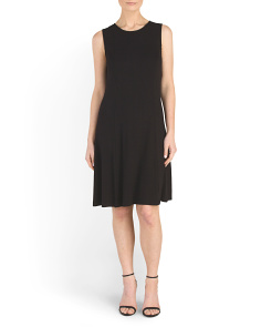 Sleeveless Crew Neck Dress
