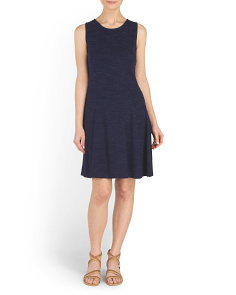 Fit And Flare French Terry Dress