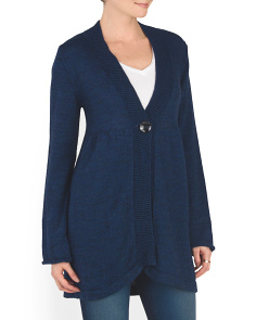 Made In Italy Button Cardigan