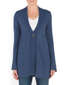 Made In Italy One Button Cardigan