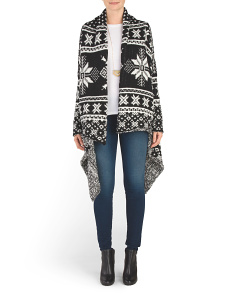 Made In Italy Snowflake Cardigan
