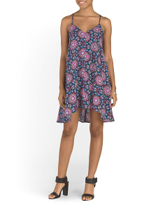 Made In USA Juniors Medallion Printed Dress