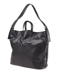 Made In Italy Leather Oversized Tote