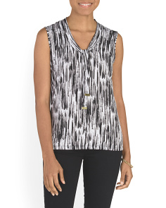 Sleeveless Tie Neck Top
