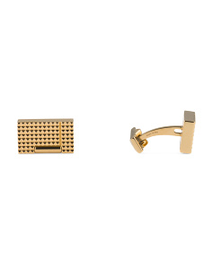 Yellow Gold Plated Stainless Steel Cufflinks