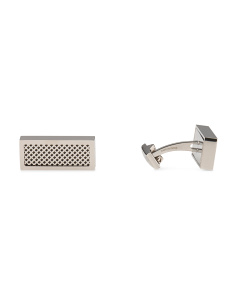 Stainless Steel With Black Grill Cufflinks