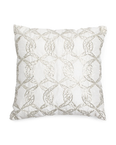 Made In India 16x16 Hand Beaded Pillow