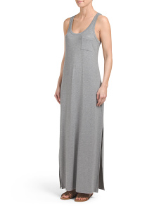 Sleeveless Heathered Maxi Dress