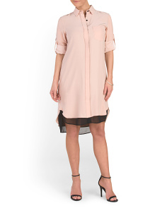 Made In USA Silk Shirt Dress
