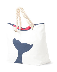 Whale Tail Reversible Beach Tote
