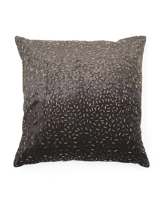 Velvet Beaded Pillow