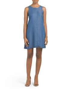 Tencel Sleeveless Trapeze Dress