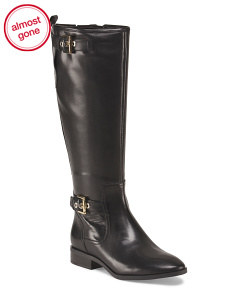 Leather High Shaft Buckle Boot