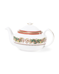 Christmas Rose Teapot