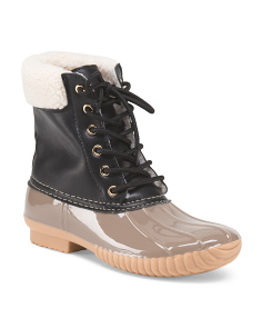 Earika Lace Up Duck Boot