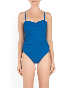 Ruched Bandeau Swimsuit