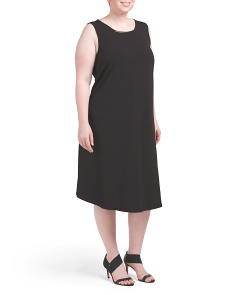 Plus A-Line Dress With Metal Detail