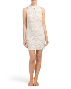 Juniors Lace Bodycon Dress
