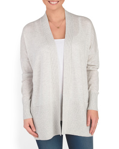 Wool Blend Drop Shoulder Cardigan