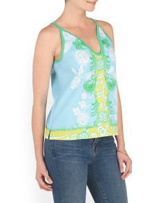 Floral Printed Shell Top