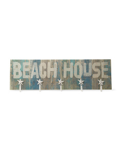 Beach House Sign With Hooks