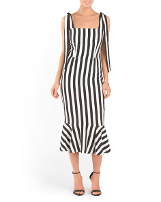 Made In Italy Striped Dress