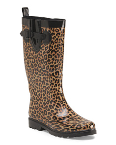 Tall Sporty Rubber Rain Boot