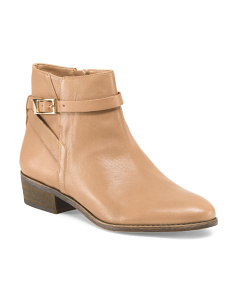 Leather Shandy Side Buckle Bootie