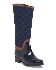 Quilted Tall Shaft Rain Boot