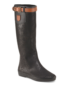 Tall Rain Boot With Contrast Buckle